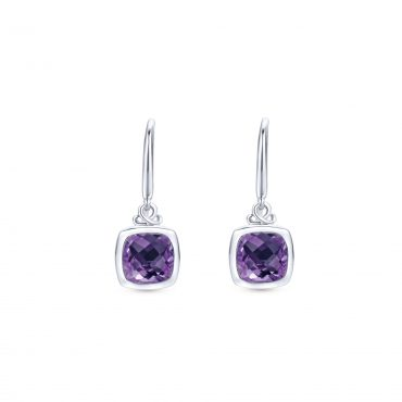 Amethyst and Sterling Silver Earrings SS1010