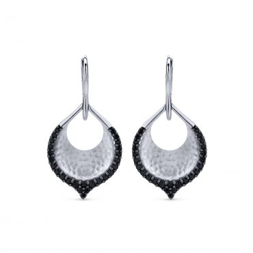 Black Spinel and Sterling Silver Earrings SS1022