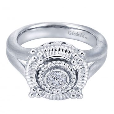 Diamond and Sterling Silver Ring SS1030
