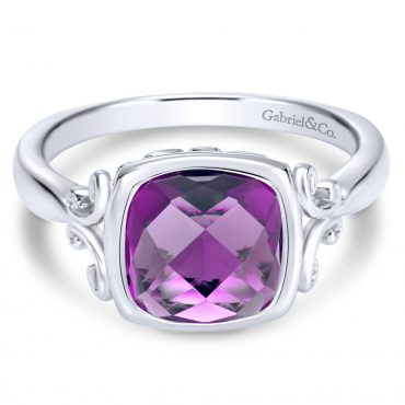Amethyst and Sterling Silver Ring SS1033