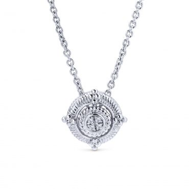 Sterling Silver and Diamond Pendant SS1048