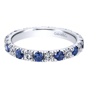 Diamond and Sapphire Wedding Ring WR1051
