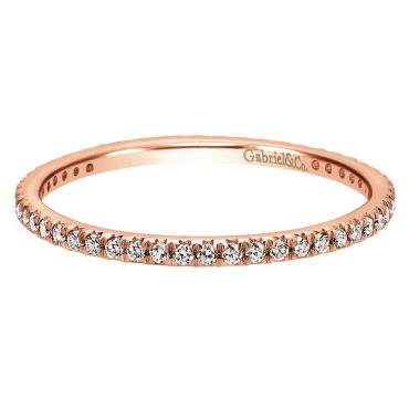 Diamond and Rose Gold Wedding Ring WR1052