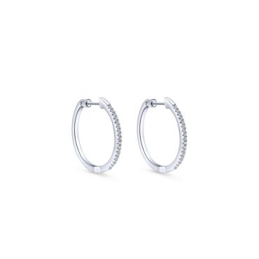 Diamond and Gold Hoop Earrings ER1072