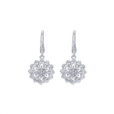 Sterling Silver Drop Earrings SS1090