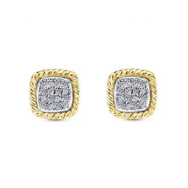 Gold and Diamond Stud Earrings ER1070